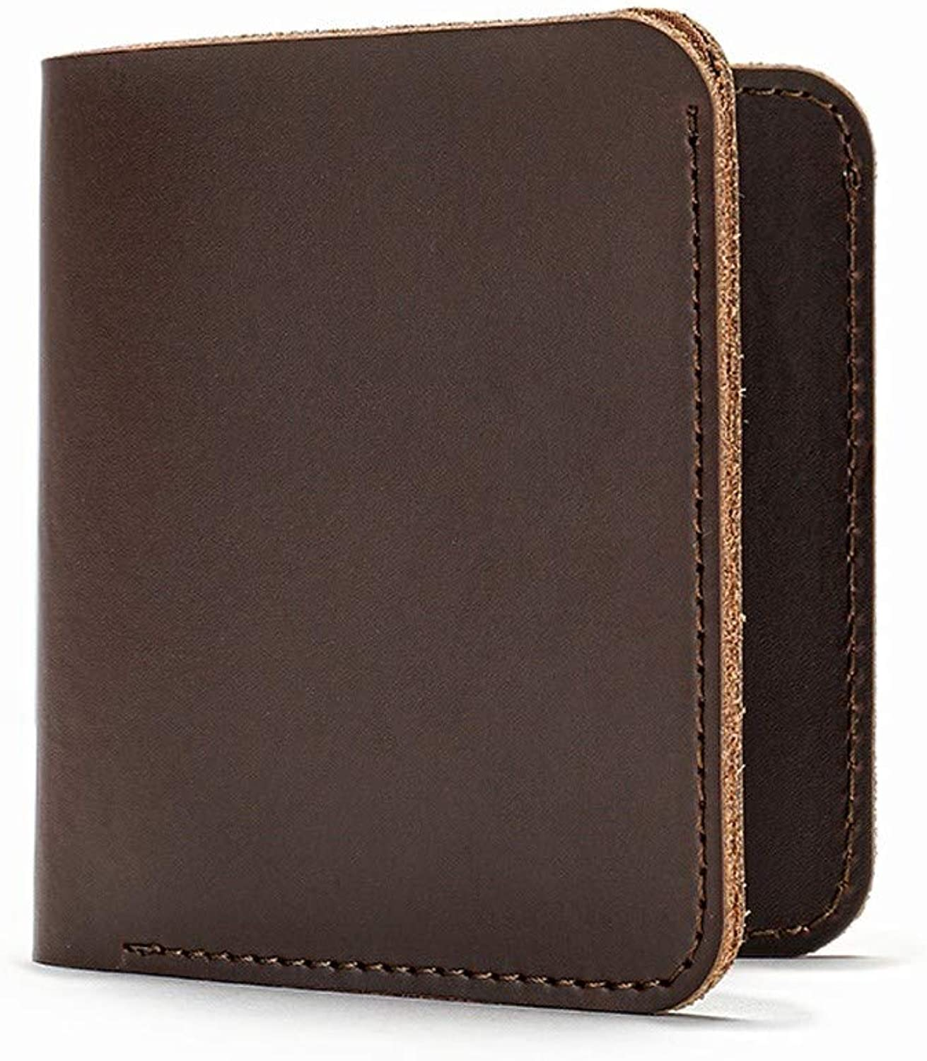Rcnry Men's Leather Long and Short Wallet, MultiCard Retro Wallet, Recreational MultiFunctional Pocket Wallet