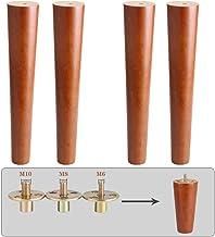 نوعية جيدة 4 قطع أرجل الأثاث الخشبية، M6 M8 M10 أرجل طاولة، أقدام خزائن بلون الجوز، أقدام أريكة، أرجل أثاث بلوط، أرجل بديل...