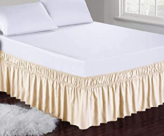Obytex Wrap Around Bed Skirts Fashional Elastic Dust Ruffle Silky Soft & Wrinkle Free Classic Stylish Look in Your Bedroom...