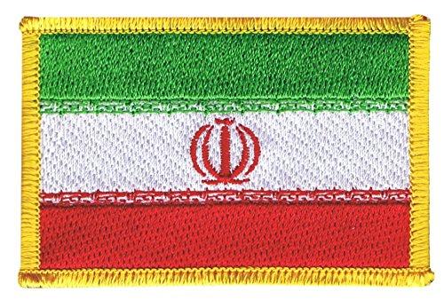 Flaggenfritze Flaggen Aufnäher Iran Fahne Patch + gratis Aufkleber