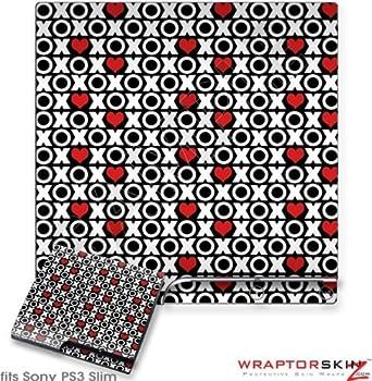 Sony PS3 Slim Skin - XO Hearts by WraptorSkinz