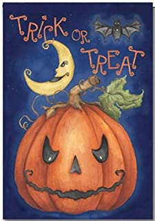 Discount Flags USA Halloween Trick or Treat Garden Flag - One Sided 11.75