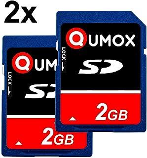 QUMOX 2 x 2GB Tarjeta SD Card para Camara teléfono móvil