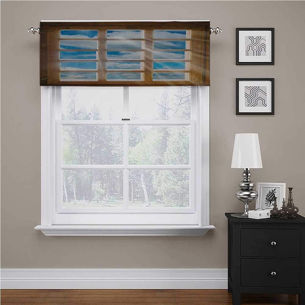 Adorise Window Curtain Valance overseas Wooden Sun Sc Beaming Brand new with