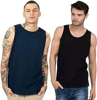 Bewakoof Men's Solid casual Vest combo pack of 2