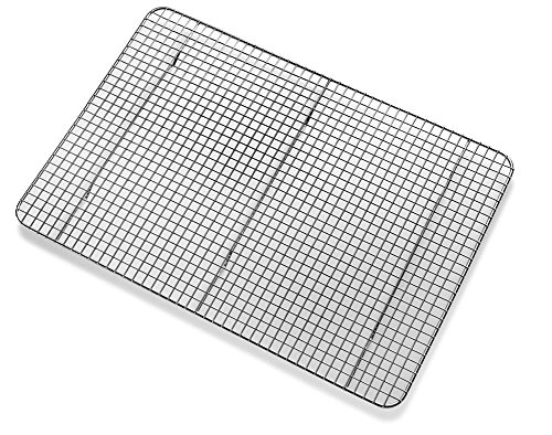 Huji CrossWire Grid Cooling Rack Wire Pan GrateBaking Rack Icing Rack Chrome Plated Steel 17quot x 1175quot