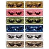 Eefofnn False Eyelashes 3D Natural Look Fake Lashes 12 Pairs Faux Mink Wispy Eyelashes Pack with Portable Eyelash Boxes
