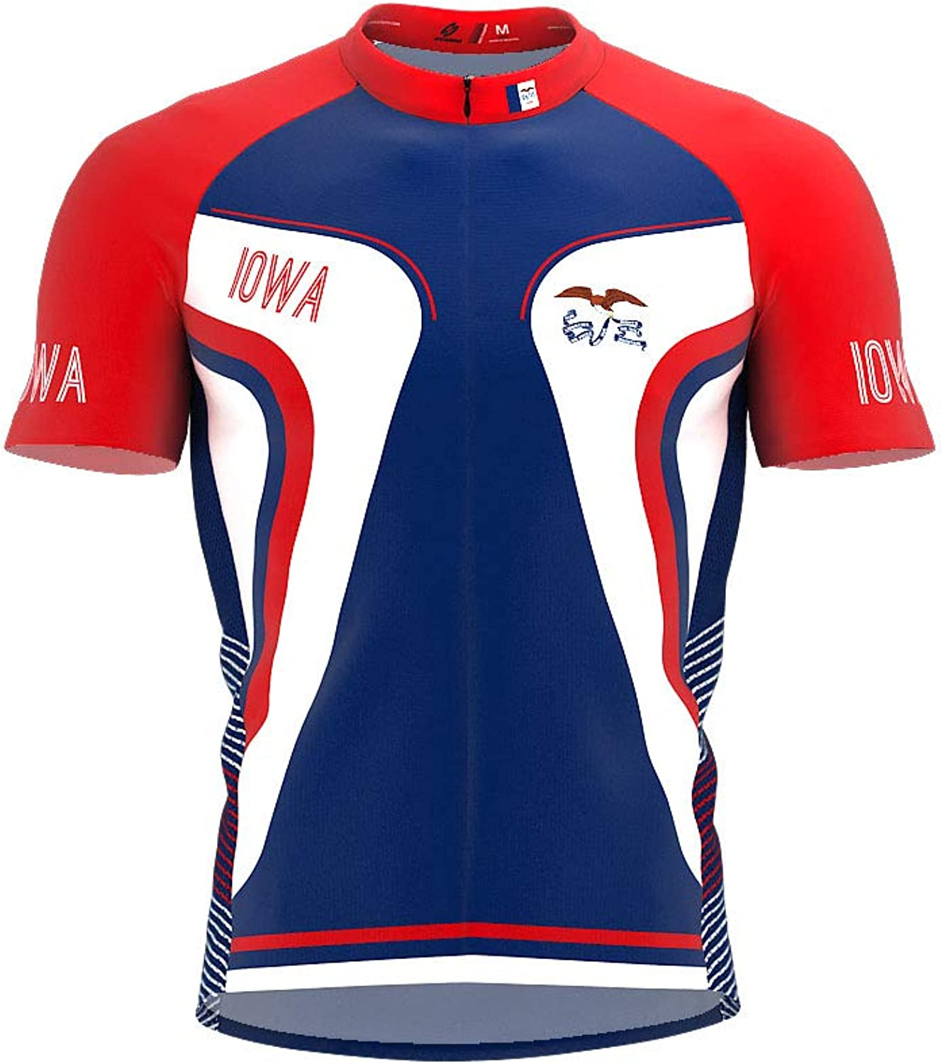 ScudoPro Iowa Bike Short Sleeve Cycling Jersey for Men