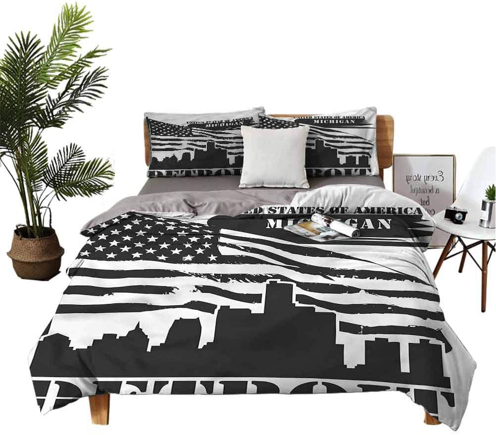 Detroit Outlet ☆ Free Omaha Mall Shipping Bed Linen Cover USA Flag Co Quilt City Grunge Ultra Soft