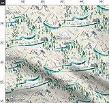 Berg, Landkarte, Mond, Fluss, Zelten, Wald, Kinderzimmer