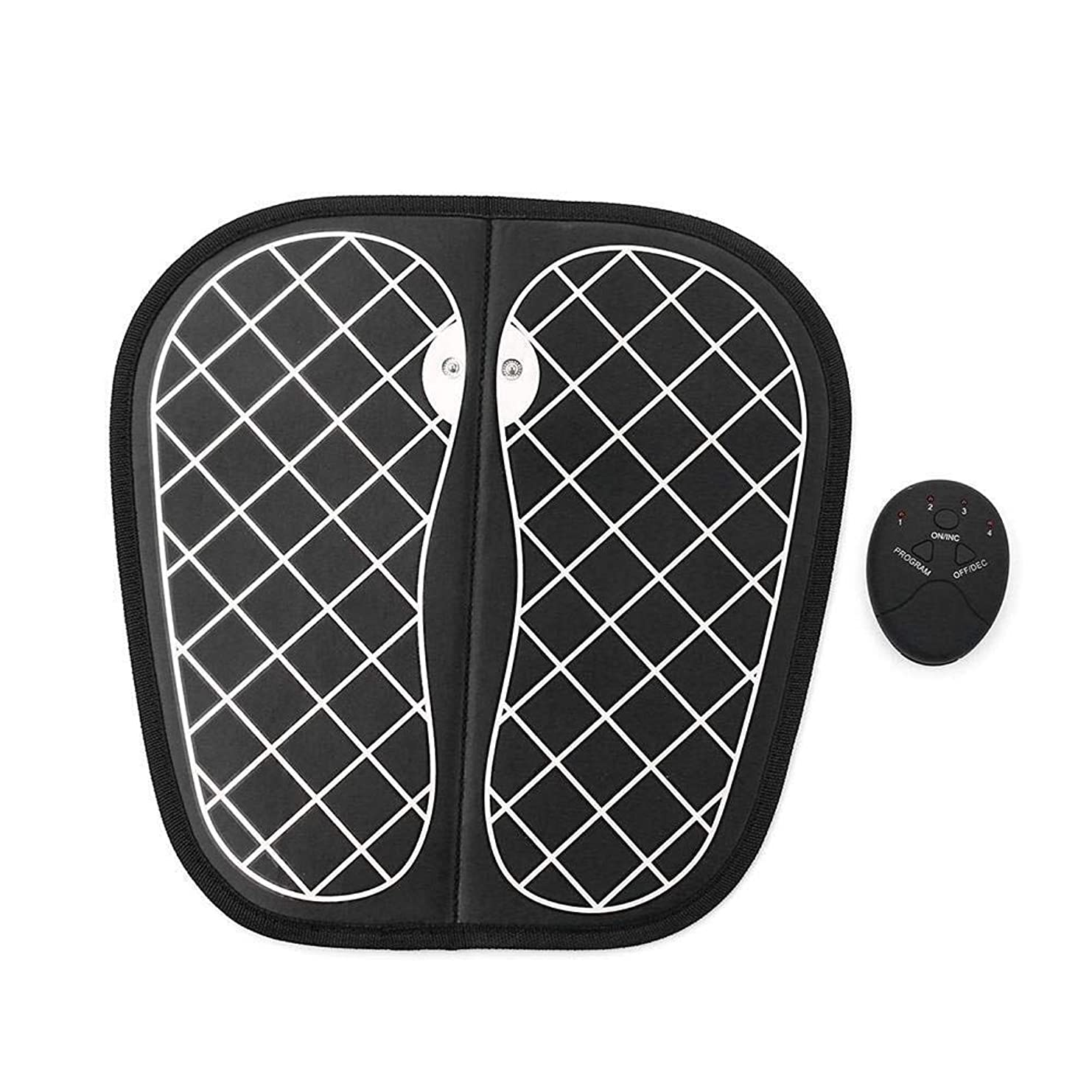 聴くコカイン毒EMSフットマッサージャーUSB充電式ポータブル電気マッサージマットは、10の力と6つの振動モードで折り畳み可能で、疲労を軽減し、血行を促進します