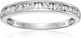 14k White Gold and Diamond Anniversary Band (1/2 cttw, H-I Color, I1-I2 Clarity)