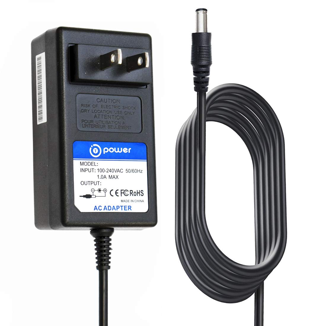 T-Power AC Adapter 6.6ft Cord Compatible with 4-PIN Canon imageFORMULA DR-M160 DR-M140 DRM140 DRM160 DR-M160II M111091 MA2-9717 Image Formula Office Document Scanner 0114T279 Ac Dc Adapter