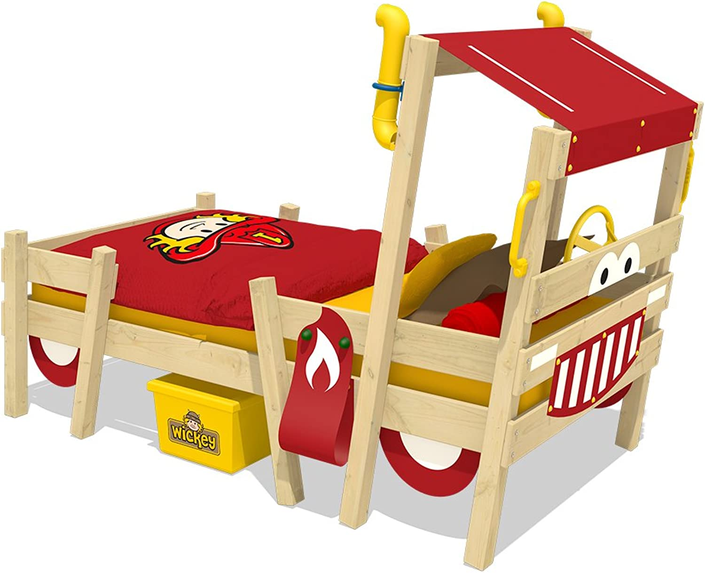 WICKEY Cama bombera CrAzY Sparky Sparky Sparky Pro Cuna 90x200 Cama para jugar con somier de madera  para proporcionarle una compra en línea agradable