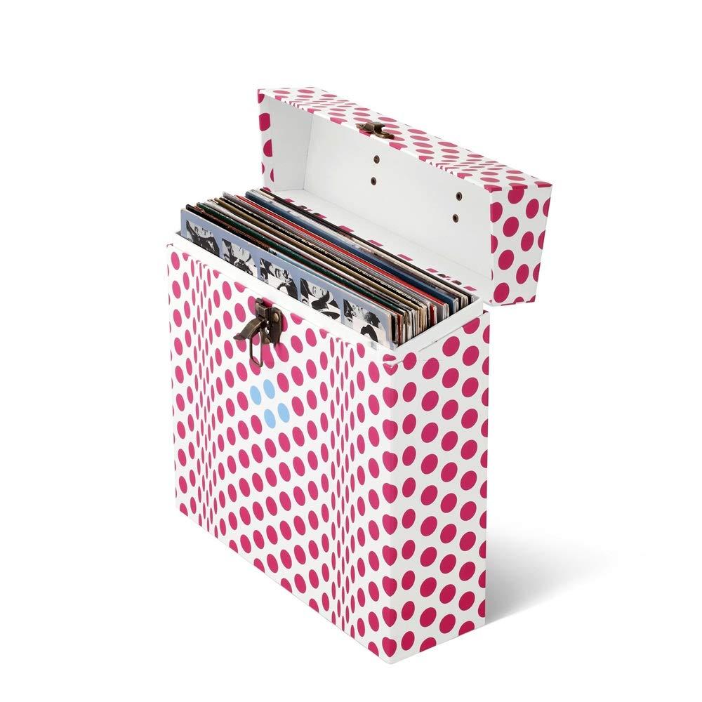 Estuche de Transporte de Almacenamiento de registr Disco de Vinilo Estuche CD Box for 12 Pulgadas Records Tiene Capacidad for hasta 30 para álbumes de giradiscos de Vinilo: Amazon.es: Hogar