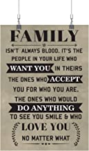 Royal Decor Collection Family Isn't Always Blood - It's The People in Your Life Who Want You in Theirs The Ones Who Accept You for Who You are Poster Print Wall Art