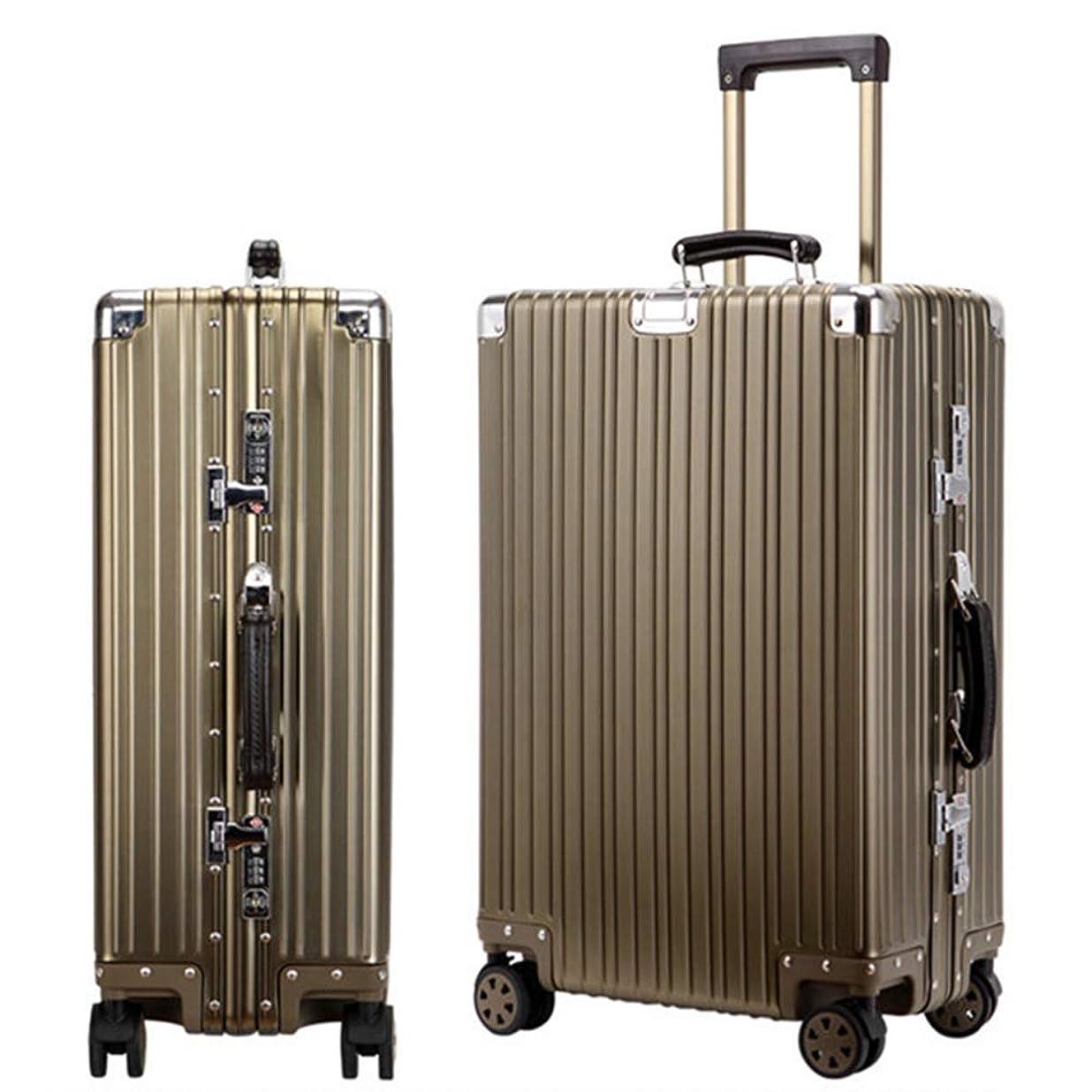 遅らせるナビゲーションパワースーツケース 旅行出張 アルミ スーツケース キャリーケース アルミ?マグネシウム合金 軽量 静音 TSAロック搭載 スーツケース アルミ スーツケース 大型 6色