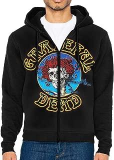 Men's Hoodies Grateful Dead Sweater Long Sleeve Hoodie Pullover Sweatshirt Coat Soft Jacket with Full-Zip Pocket