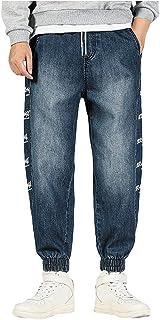 Jeans Pantaloni Larghi Classici Larghi Hip-Hop Allentati Danza Moda Casual Stampa Tasche Patchwork Jeans all'aperto Uomo (...