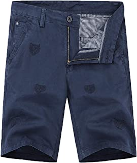 NUWFOR Men's Summer New Simple Fashion Pocket Shorts Comfortable Large Shorts?Blue,US L Waist:37.01''?