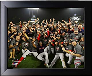 FramedThe Boston Red Sox 2018 World Series Champions On The Field Team Photo 8x10 Photo Picture