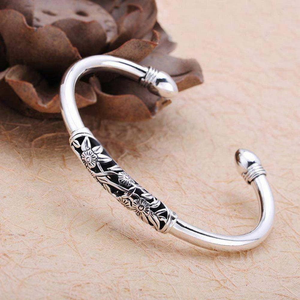 Bangles Superlatite Bracelets Women's Simple 925 Brand Cheap Sale Venue Silver 990 Flower Polished