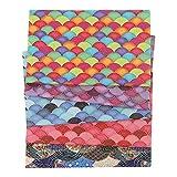 adfafw Sroomcla Set DIY 50x50 cm Tela Japonesa 100 algodón de los Cuartos gordos Tela Floral Que broncea de la Flor de Cerezo del Estilo japonés para acolchar Patchwork Costura Positive