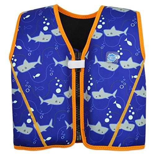 Splash About Go Splash Chaleco Flotador, Unisex bebé, Shark OrangeRequin, 3-6 años