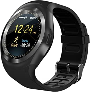 GXSLKWL Smart Watch Round Bluetooth Smartwatch with SIM Card Slot Compatible with Android Smart Phones Smart Outdoor Sport...
