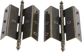 SSB-JIAJUPJ, 2ST antieke bronzen kastdeur bagage Crown scharnier vintage sieraden van hout doos scharnieren 8 gaten decor ...
