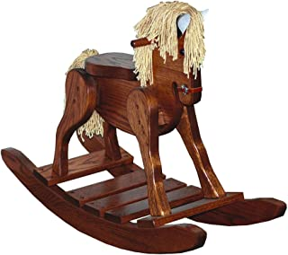 Furniture Barn USA Child's Deluxe Oak Rocking Horse