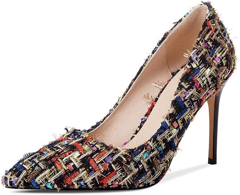 JIANXIN Damen Frühling Und Sommer Sexy Stiletto Heels Heels OL Pumps Und Stiletto Heels. (Farbe   Schwarz, Größe   36)  günstig online