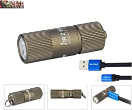 Olight I1R 2 Eos 150 Lumens Tiny Rechargeable Keychain Light LED Flashlight with Built-in Battery and Micro USB Charging C...