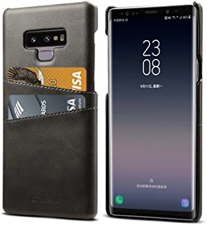 Note 9 Leather Case with Card Holder, Ultra Lightweight Cover Case Compatible for Samsung Galaxy Note 9 - Black