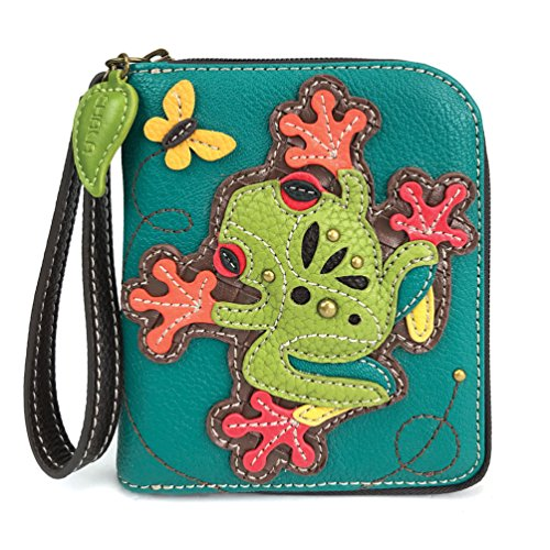 CHALA Pal Zipper Wallet Collection (Frog - Turquoise)