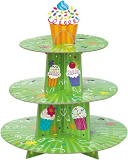 Cardboard Cupcake Party Cupcake Stand