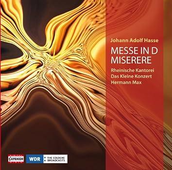 Hasse: Mass in D minor - Miserere in C minor