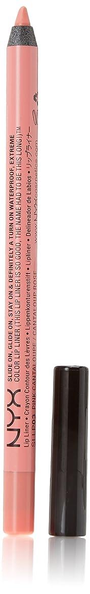 浸食透ける先行するNYX PROFESSIONAL MAKEUP 、リップペンシルでスライドさせて、 0.04オンス ピンクcanteloupe