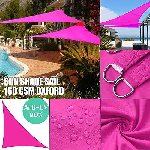Toldo para el sol, impermeable, hecho de poliéster de alta calidad, 95 % efecto protector solar, impregnado de poliuretano, a prueba de polvo y viento, rojo rosado, 3*3*4.3m