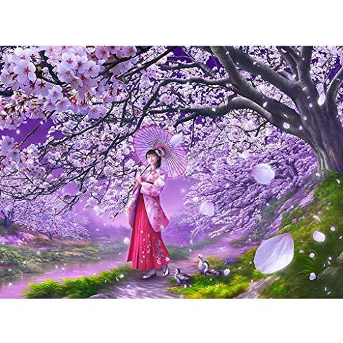 Puzzels 500 Stuks, Peach Blossom Girl, Houten Puzzel Educatief Spel Intellectuele Uitdagingspuzzel Voor Kinderen Beste Cadeau -5.5