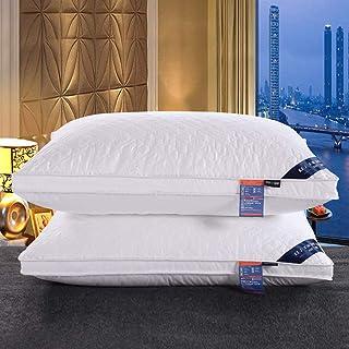 KongEU Almohadas suaves estándar suaves con relleno de plumón de sueño profundo, almohada de calidad de hotel, almohada de 74 x 48 cm, 1 paquete de almohada alta