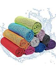 Yisscen 10 Pack Toalla de enfriamiento, toalla de enfriamiento microfibra, Toalla Deportiva de Secado, para fitness, deporte, yoga, golf, camping, playa, entrenamiento, viajes