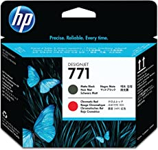 HP CE017A # Printhead (Matte Black/Chromatic Red) in Retail Packaging