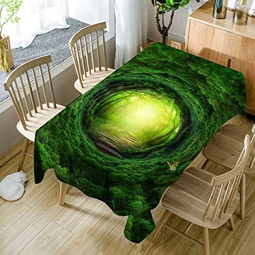 XXDD 3D Sol Hielo Lobo patrón de Copo de Nieve Mantel cómodo Impermeable y a Prueba de Polvo Mantel para el hogar Cubierta A3 150x210cm