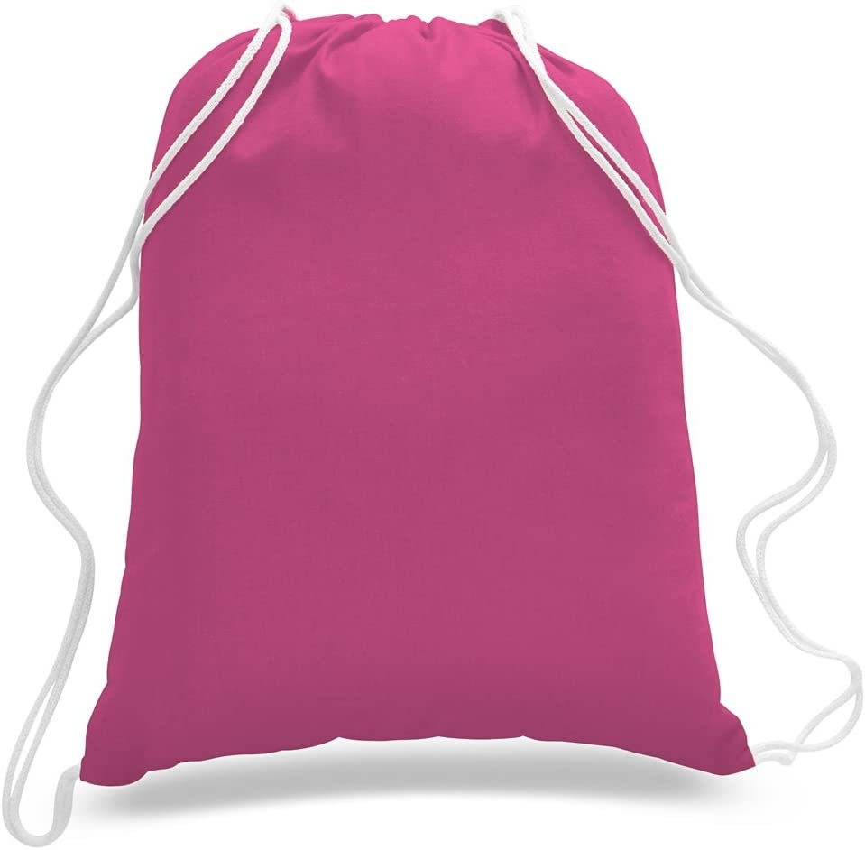 12 Pack 1 Dozen - Durable Cotton Tote Hot Bags Pin half Max 83% OFF Drawstring
