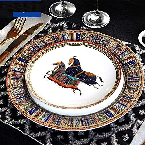 LHQ-HQ Juego de vajilla de porcelana Set de vajilla de porcelana Set de vajilla de porcelana Hogar Cocina Contenedor de alimentos