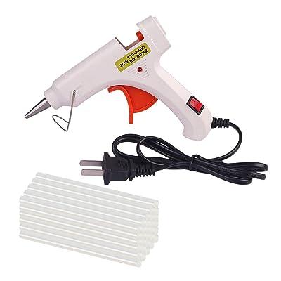 AUTOPDR Glue Gun,20pcs Glue Sticks Melt Hot Glu...