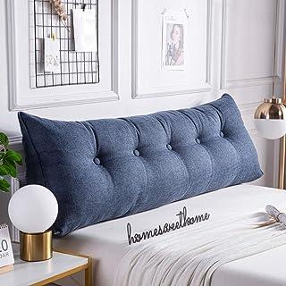 SZDL Cojin Gigante, Cojin Lumbar Sofa, con Bolsillos y Funda Extraíble, Almohada de Lectura, para Dormitorio/Sala de Estar/Oficina/Dormitorio de Estudiantes (Color : Blue, Size : 120×50×20cm)