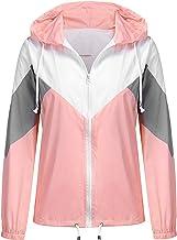 SoTeer Women`s Waterproof Raincoat Outdoor Hooded Rain Jacket Windbreaker (15 Colors S-XXXL)