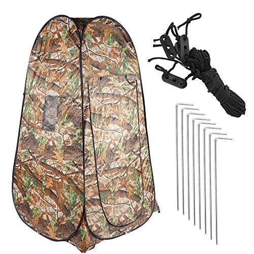 Cerlingwee Carpa para Acampar, Resistente al Desgaste con Doble Ventana Abierta Carpa Cambiador diseñada para vestirse, sólida para Inodoro al Aire Libre Ducha Cambio de Ropa Protección de la